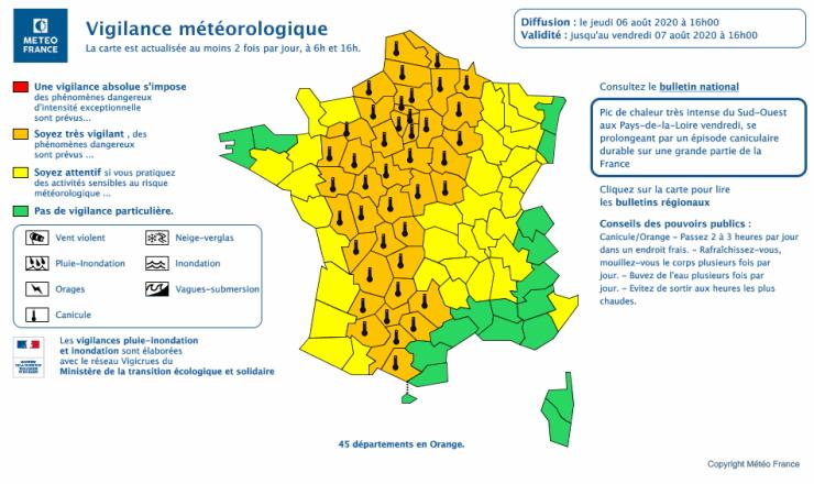 Image d'illustration pour Canicule importante sur la France pendant une semaine !