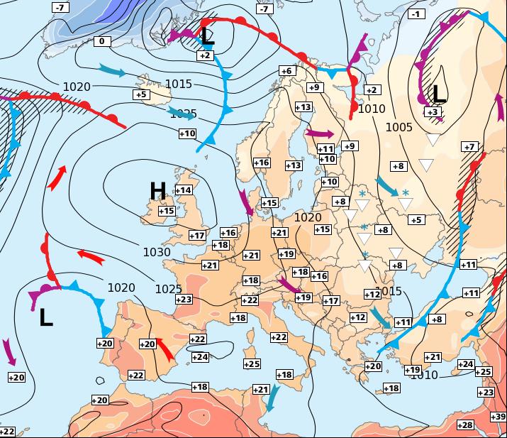 Image d'illustration pour Soleil et chaleur en France - Froid en Europe de l'Est
