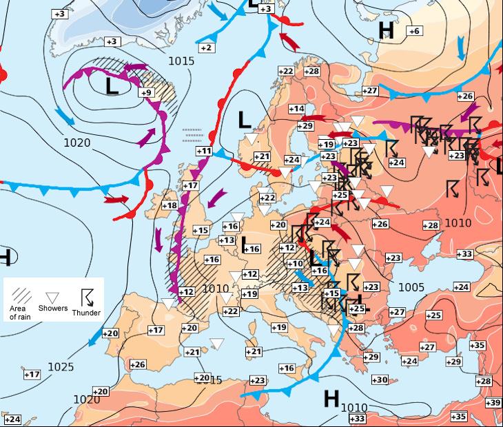 Image d'illustration pour Europe : fraîcheur à l'ouest mais chaleur en Scandinavie