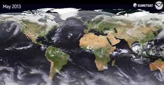 Image d'illustration pour Animation satellite mondiale de 2013