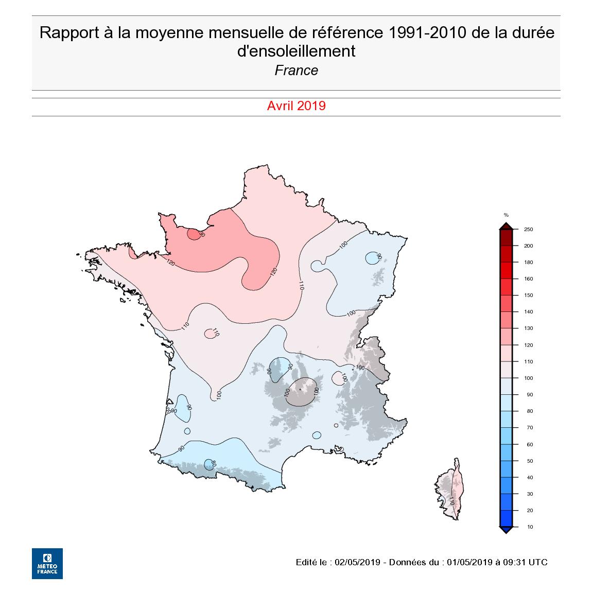 Image d'illustration pour Un mois d'avril hétérogène : le bilan national
