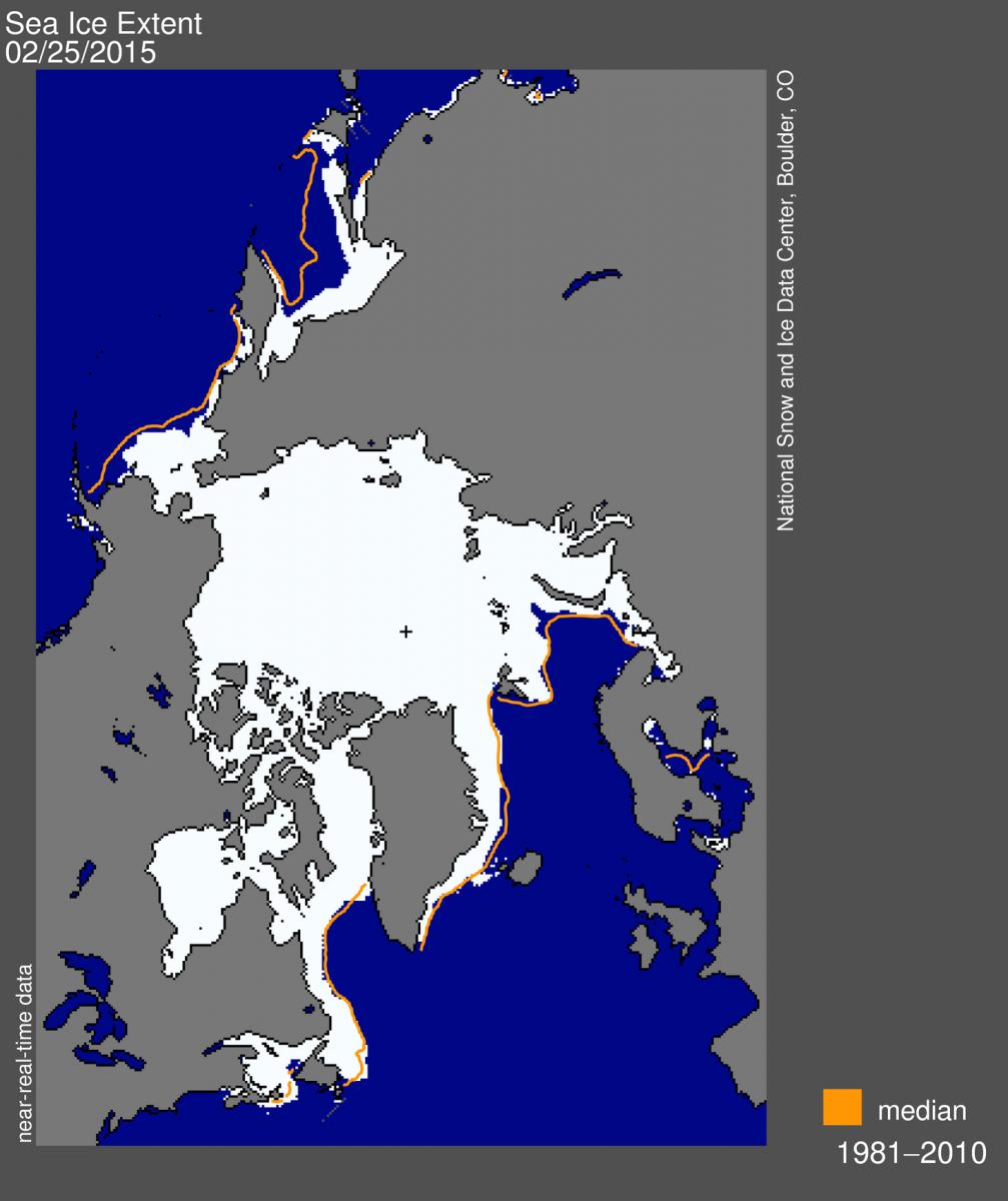 Image d'illustration pour Plus faible maximum hivernal pour la banquise arctique