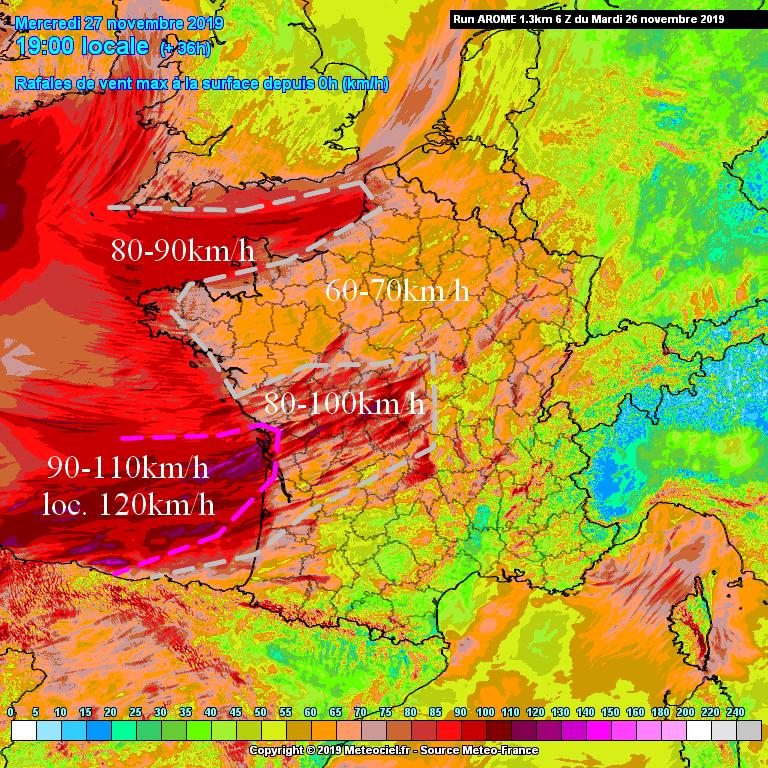 Image d'illustration pour Tempête et submersion marine sur l'Ouest de la France ces 26 et 27 Novembre