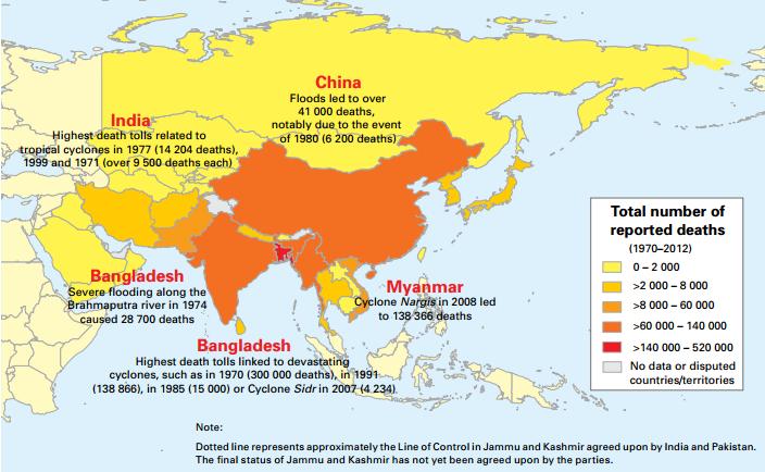 Image d'illustration pour Mortalité et pertes économiques dues aux phénomènes météorologiques