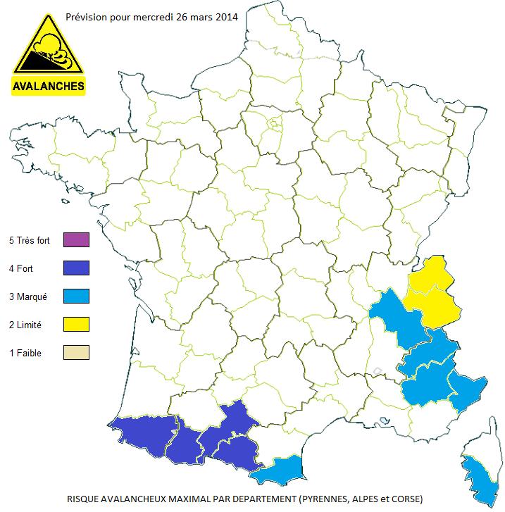 Image d'illustration pour Fort risque d'avalanche sur l'Ouest des Pyrénées jeudi