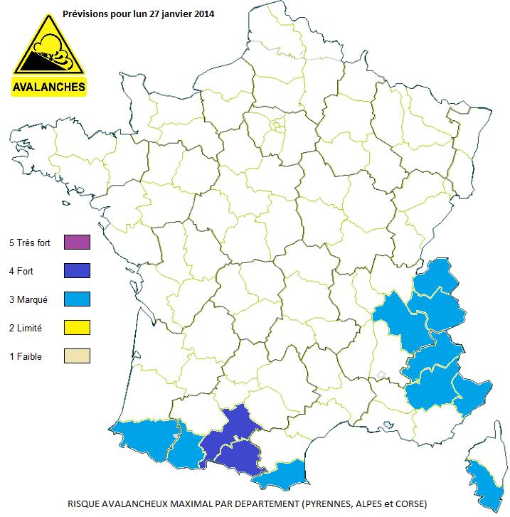 Image d'illustration pour Encore un fort risque d'avalanche sur les Pyrénées Centrales lundi