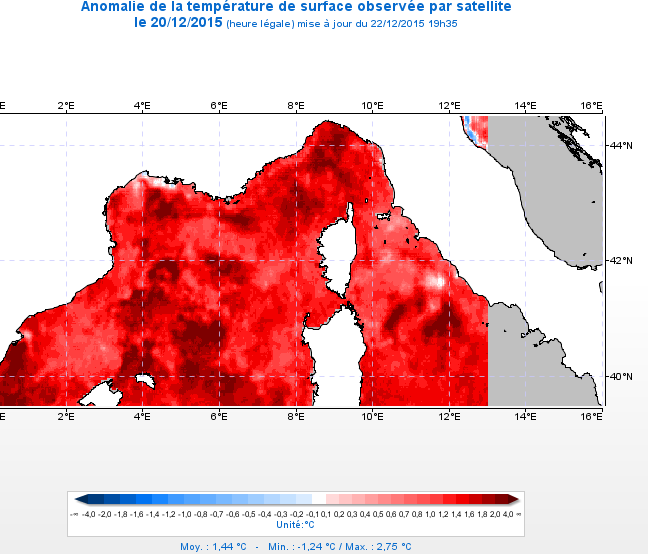 Image d'illustration pour Une température de l'eau remarquablement douce pour les bains de Noël