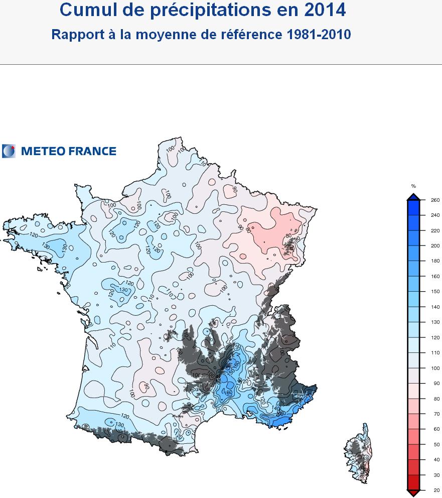 Image d'illustration pour Bilan météo de l'année 2014 : douceur record