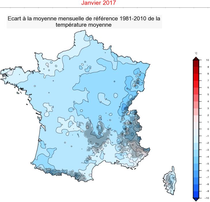 Image d'illustration pour Bilan météo de janvier 2017 : souvent froid et sec