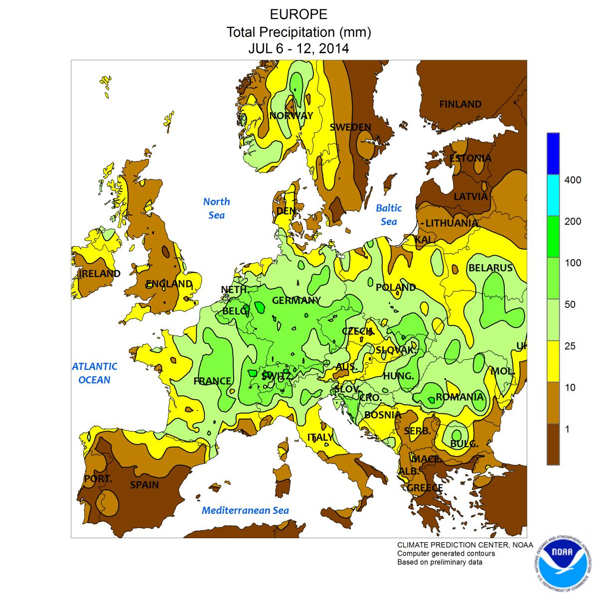 Image d'illustration pour Bilan de la semaine dernière : très chaud en Scandinavie, souvent très arrosé