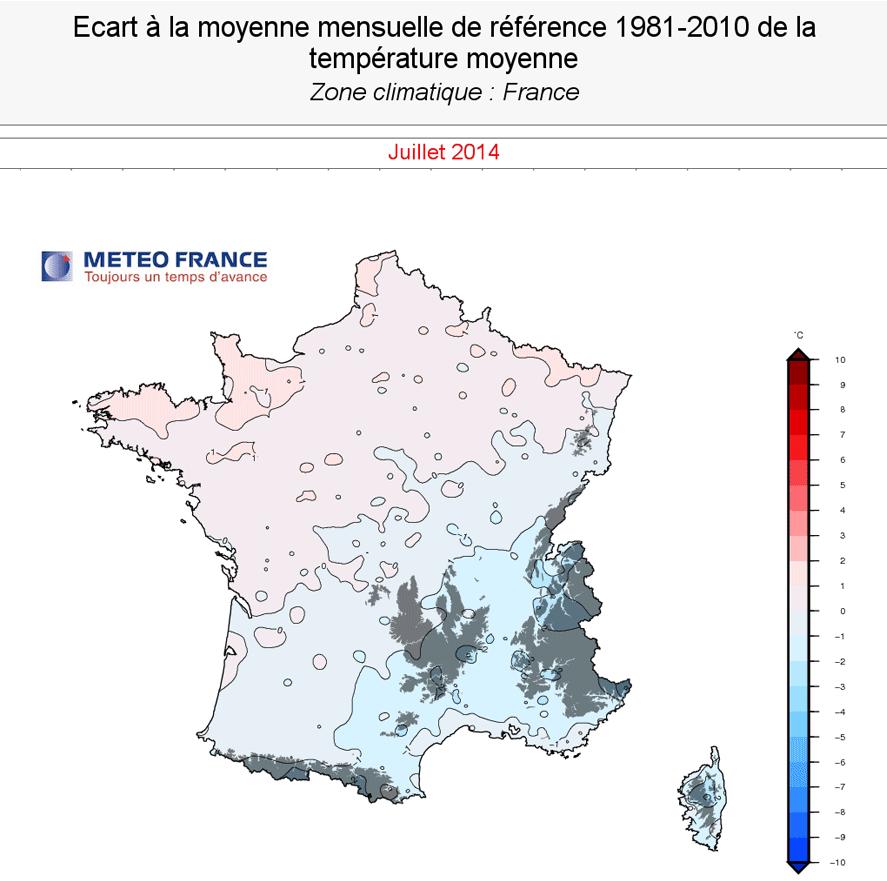 Image d'illustration pour Bilan maussade de juillet 2014 : température, pluviométrie, insolation