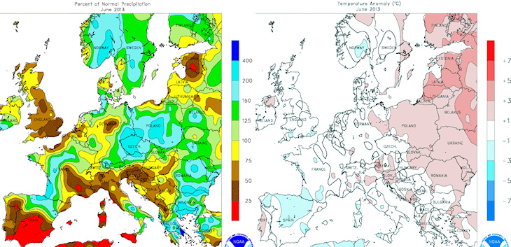 Carte De Leurope Meteo.Bilan Meteo De Juin 2013 En France Et En Europe 07 Juillet 2013 Html