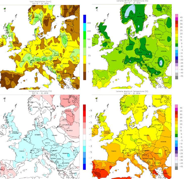 Image d'illustration pour Bilan météo hebdomadaire sur la France et l'Europe