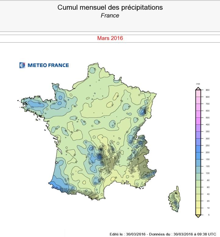 Image d'illustration pour Un mois de mars frais, souvent nuageux et pluvieux