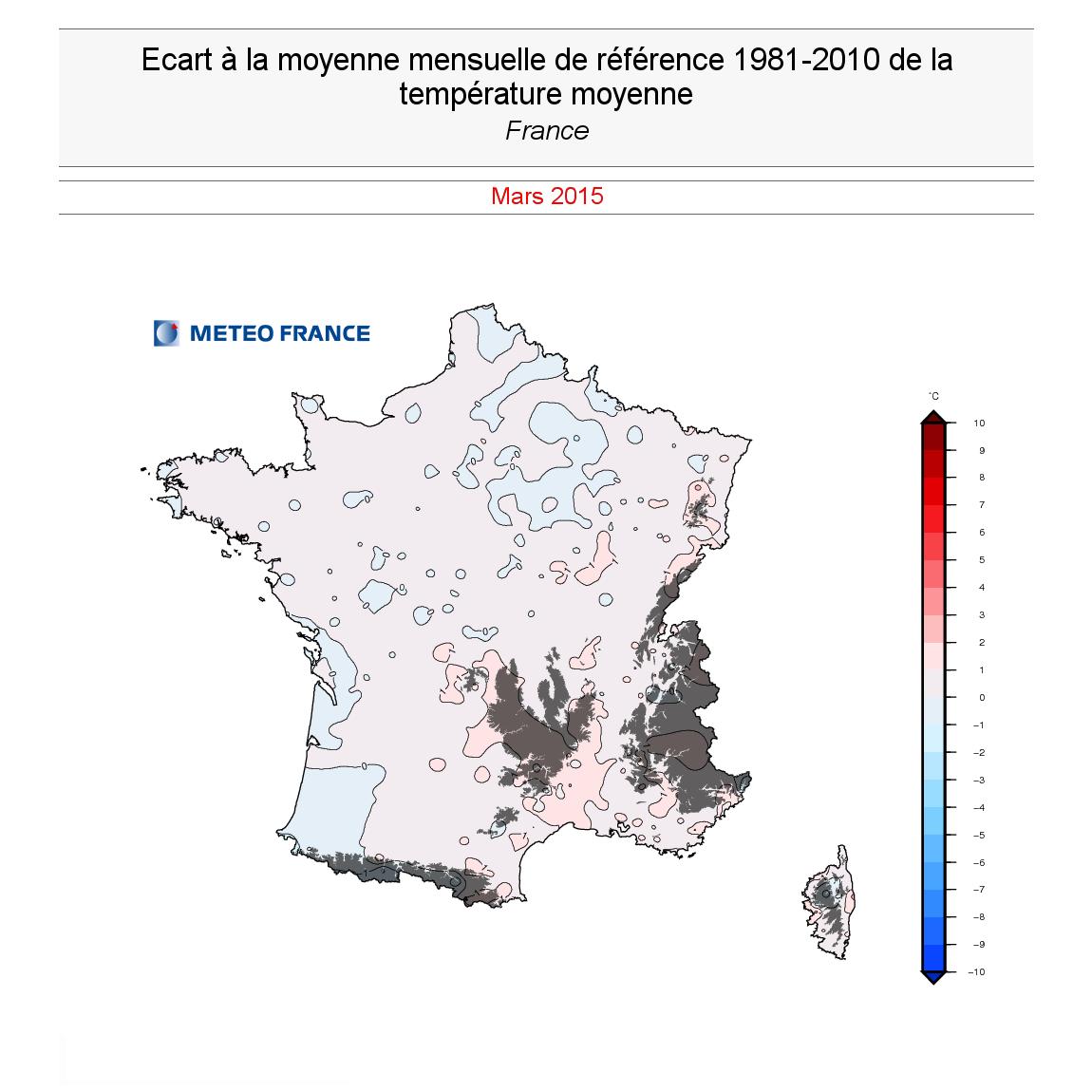 Image d'illustration pour Bilan météo de mars : température normale, pluie et insolation contrastés