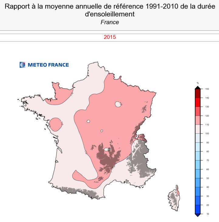 Image d'illustration pour Bilan météo complet de l'année 2015 : doux, ensoleillé et généralement sec