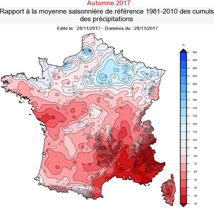 Image d'illustration pour Premier bilan météo d'un automne 2017 très sec