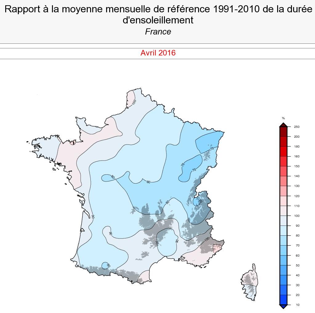 Image d'illustration pour Bilan météo d'un mois d'avril assez maussade mais proche de la normale