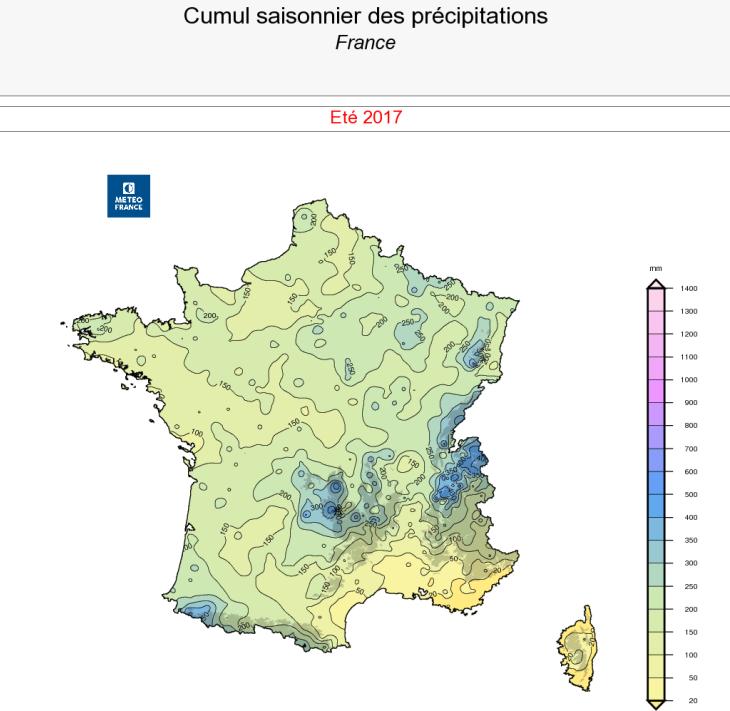 Image d'illustration pour Bilan cartographié de l'été 2017 en France