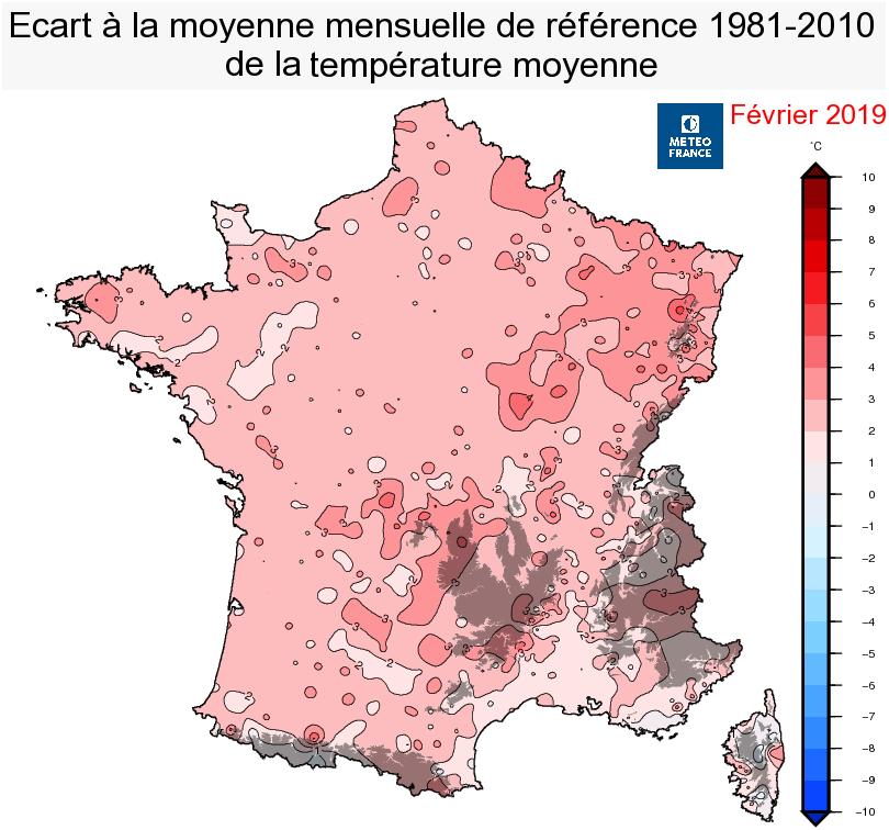 Image d'illustration pour Bilan météo détaillé de février 2019 sur 33 villes