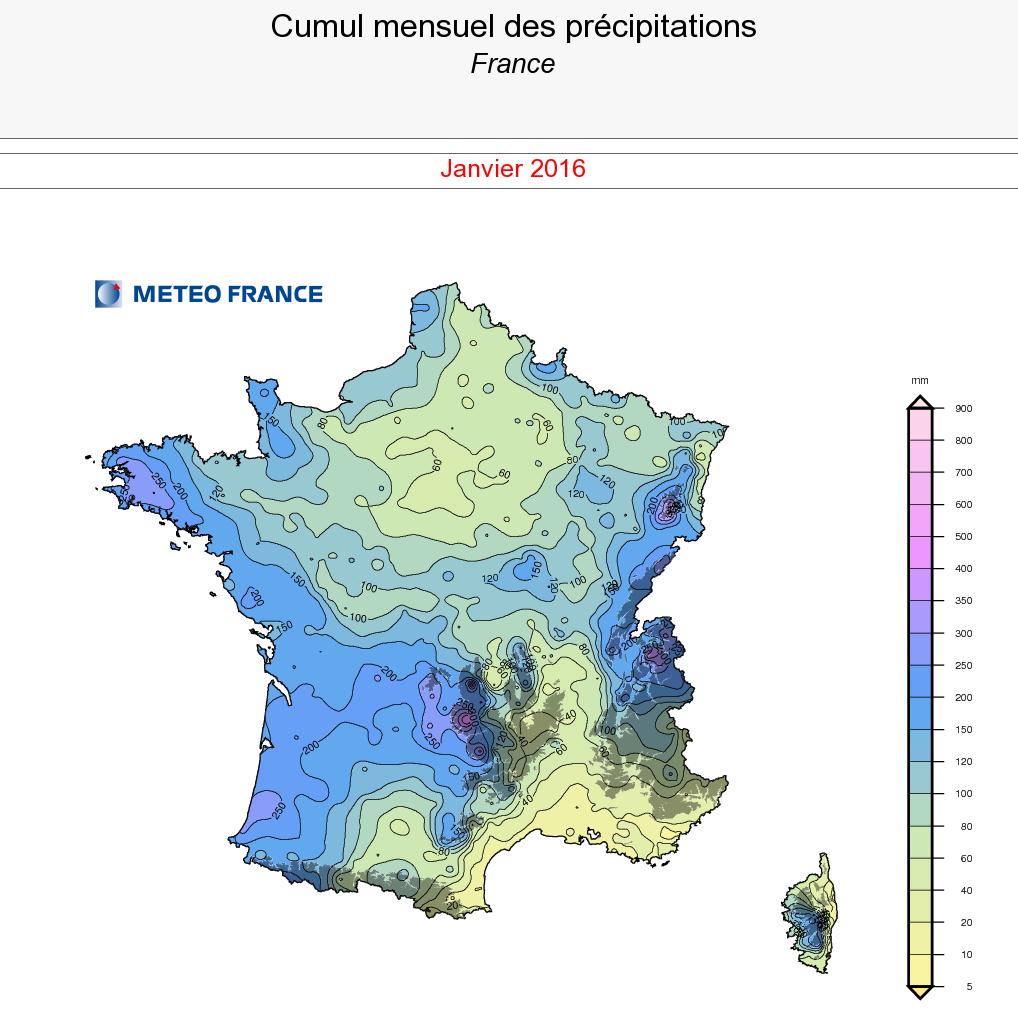Image d'illustration pour Bilan météo de janvier : très doux et fréquemment pluvieux