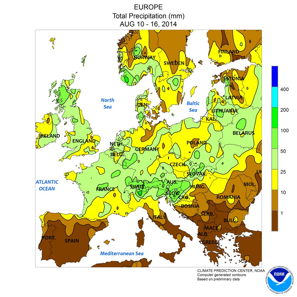 Image d'illustration pour Retour de la douceur - Fortes pluies en Europe Centrale