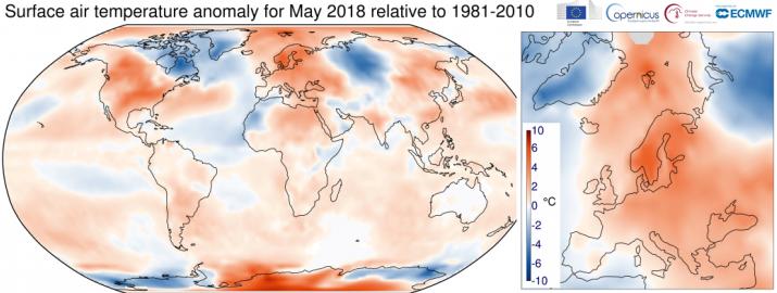 Image d'illustration pour Mai 2018 plus chaud que la normale dans le Monde