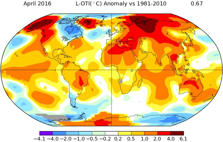 Image d'illustration pour Nouveau record de douceur mondial en avril selon la NASA