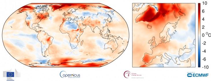 Image d'illustration pour Octobre 2017 parmi les plus chauds observés dans le Monde
