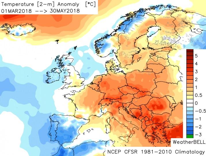 Image d'illustration pour Fin du printemps et début de l'été - Tendance météo ?
