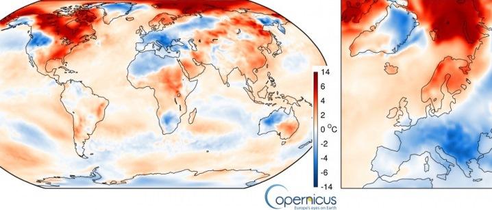 Image d'illustration pour Janvier 2017 : froid en Europe mais doux dans le Monde