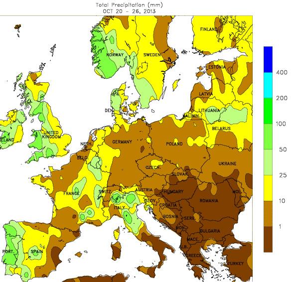 Image d'illustration pour Bilan météo hebdomadaire en Europe