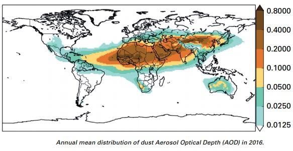 Image d'illustration pour Premier bulletin annuel sur les poussières atmosphériques