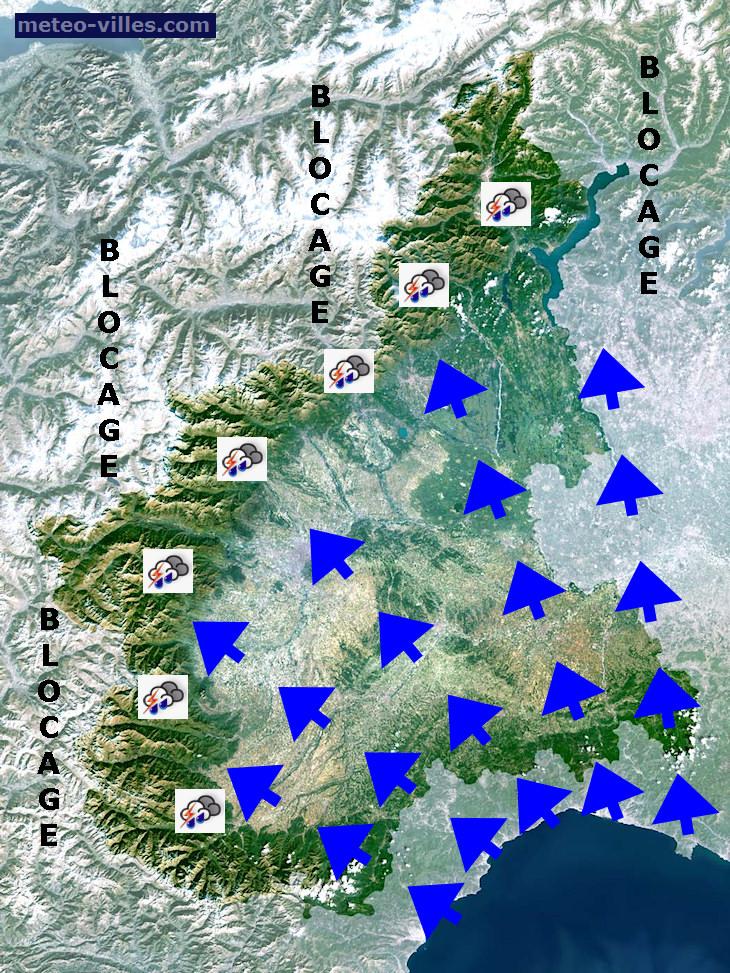 Image d'illustration pour Jusqu'à 300 mm cumulés sur le Nord de l'Italie ces derniers jours