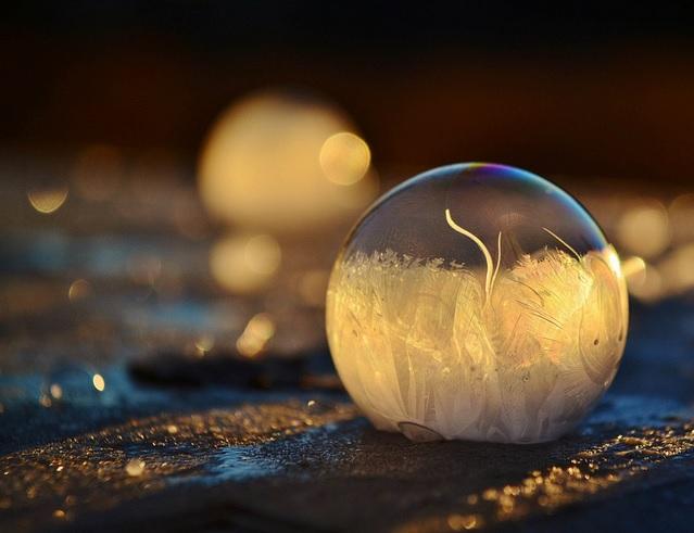 Image d'illustration pour Des bulles de savon gelées