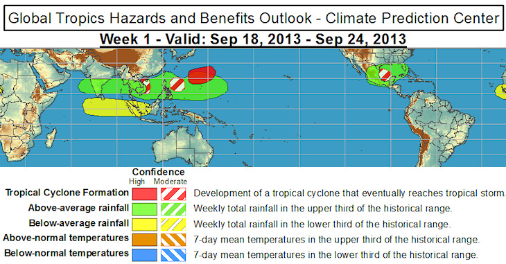 Image d'illustration pour Bulletin de météorologie tropicale - risque cyclonique