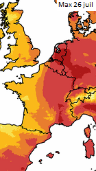 Image d'illustration pour Deuxième canicule de l'été : prévisions et suivi