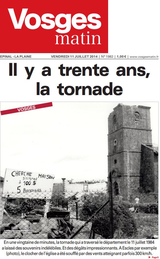 Image d'illustration pour Les terribles orages des 11 & 12 juillet 1984 en France et en Allemagne