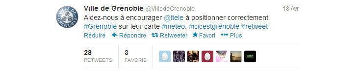 Image d'illustration pour Bulletin météo TV : Grenoble était mal placée !