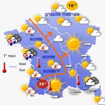 Image d'illustration pour Un week-end très contrasté : chaleur samedi / orages et fraîcheur dimanche