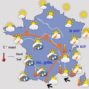 Météo en France Aujourd'hui