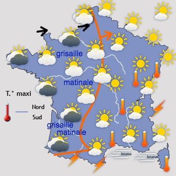 Météo en France J+1