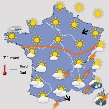 Image d'illustration pour Chaud soleil au Nord & orages par le Sud pour le pont du 8 mai