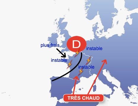 Image d'illustration pour Fortes chaleurs en France fin juillet 2012