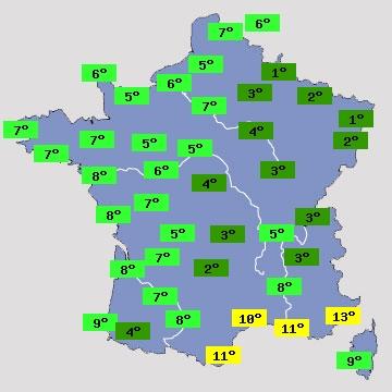 Prévisions météo pour chambéry et sa région