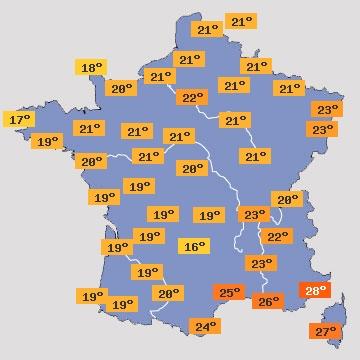 Température en France J+3