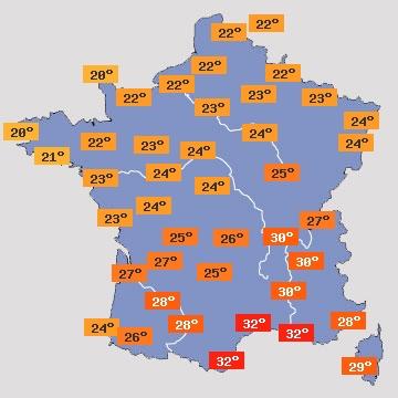 prévisions météo en France des prochains jours sur météopassion