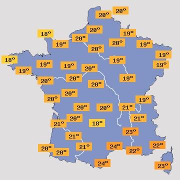 Température en France J+4