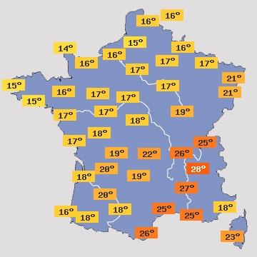 Image d'illustration pour Chute des températures à prévoir la semaine prochaine