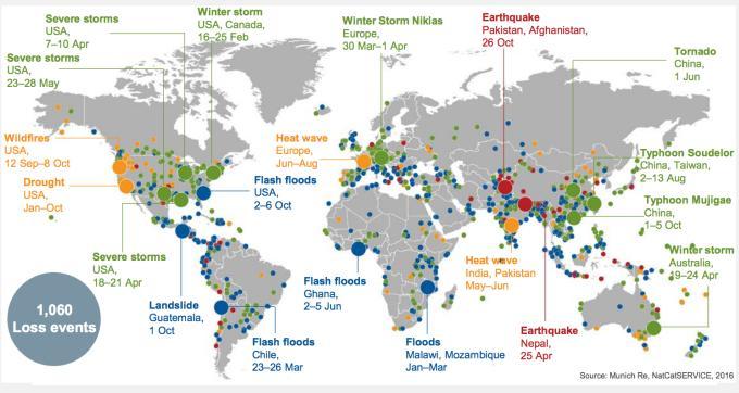 Image d'illustration pour Bilan des catastrophes naturelles en 2015 dans le Monde